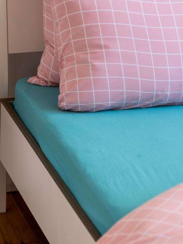 סדין ג'רסי למיטה זוגית / 180X200