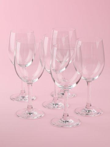 מארז 6 גביעי יין אדום Crystal