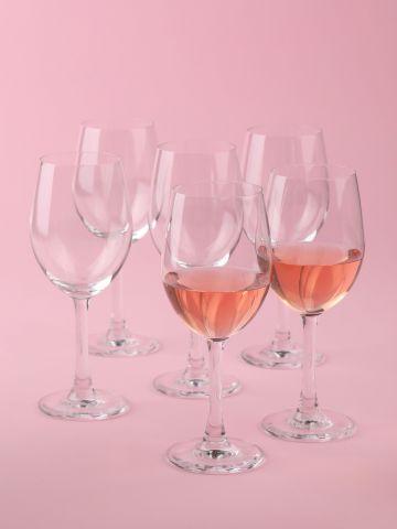 מארז 6 גביעי יין לבן Crystal