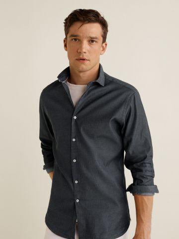 חולצת ג'ינס מכופתרת סלים פיט