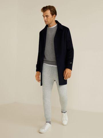מכנסי טרנינג עם כיסים ושרוך קשירה