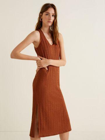 שמלת מידי ריב עם שסעים בצדדים
