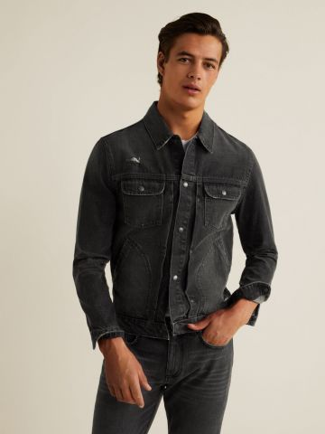 ג'קט ג'ינס בשטיפה כהה