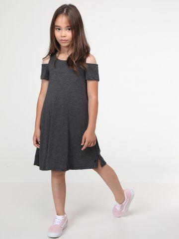 שמלת מיני עם פתחים בכתפיים
