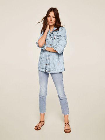 ג'קט ג'ינס בגזרת אוברסייז