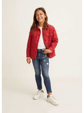 ג'ינס סקיני עם פאצ'ים בשילוב פאייטים