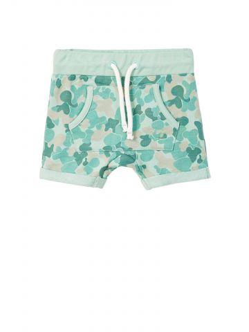 מכנסי טרנינג קמופלאז' בסגנון באגי עם כיס קדמי רחב / בייבי בנים