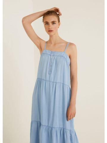 שמלת ג'ינס מקסי קומות
