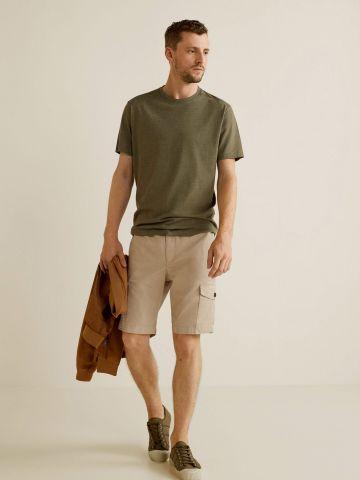 מכנסי ברמודה קצרים עם כיסים