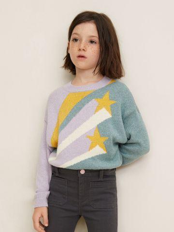 סוודר כוכבים בשילוב לורקס