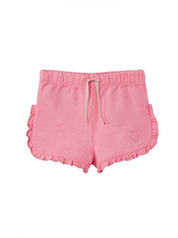 מכנסי טרנינג  קצרים עם מלמלה / בייבי בנות