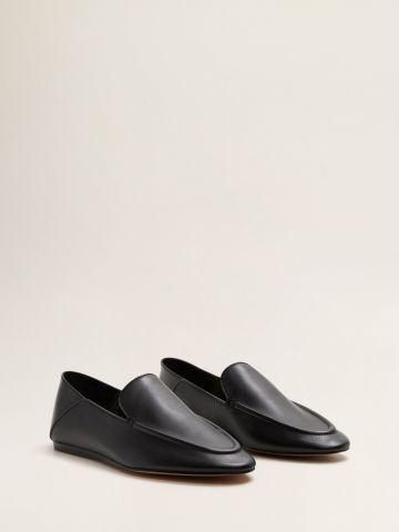 נעלי מוקסינים מעור
