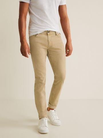 ג'ינס Slim-fit עם קיפול בסיומת