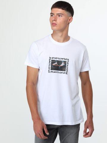 טי שירט בוקס עם הדפס סקייטבורד Skate Lanos