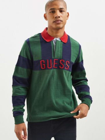 חולצת פולו Guess בשילוב פסים UO