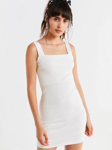 שמלת מיני סלים בטקסטורת פסים UO
