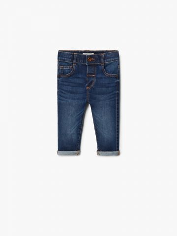 ג'ינס סלים-פיט עם קיפולים / בייבי בנות