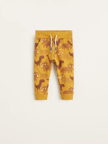 מכנסי טרנינג בהדפס דינוזאורים / בייבי בנים