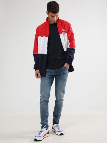 ג'ינס סקיני עם שפשופים עדינים
