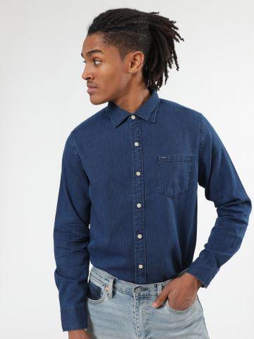 חולצת פיקה מכופתרת עם כיס