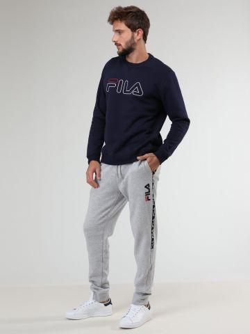 מכנסי טרנינג מלאנג' עם סטריפ לוגו בצדדים