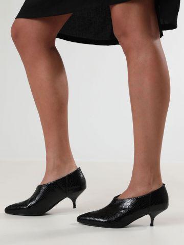 נעלי עקב סליפ-און דמוי עור נחש GITTAN / נשים