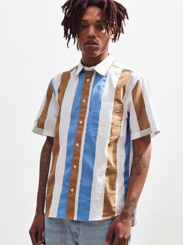 חולצת פסים מכופתרת UO