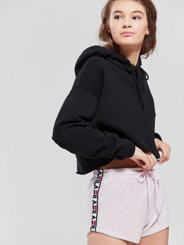 מכנסי טרי קצרים עם סטריפ לוגו Fila