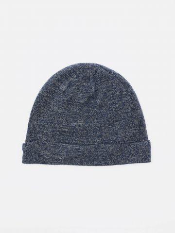 כובע גרב עם פאץ' לוגו / בנים