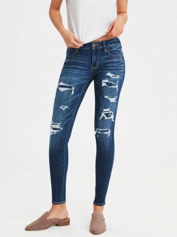 ג'ינס סקיני סטרץ' בשילוב קרעים JEGGING