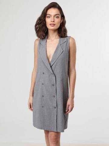 שמלת ווסט מיני מחויטת ללא שרוולים