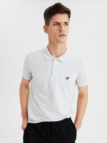 חולצת פולו מלנז' לוגו