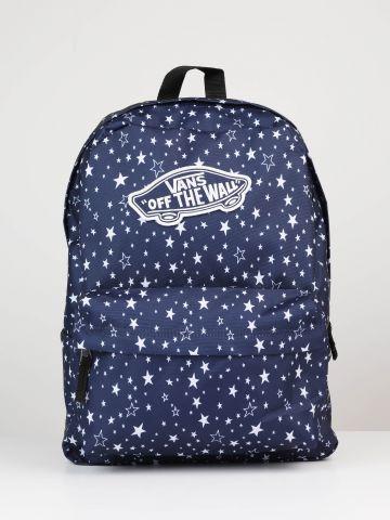 תיק גב קנבס כוכבים עם פאץ' לוגו