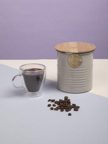 צנצנת מתכת לאחסון קפה