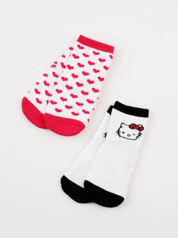 מארז 2 זוגות גרביים Hello Kitty / בייבי בנות