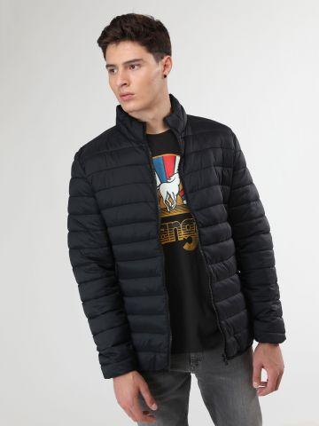 מעיל ניילון קווילט צווארון גבוה