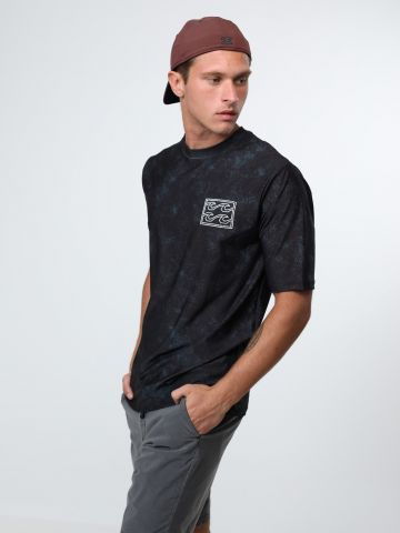 חולצת גלישה אסיד-ווש רטרו לוגו