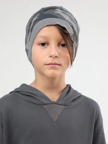כובע גרב בהדפס קמופלאז' / ילדים