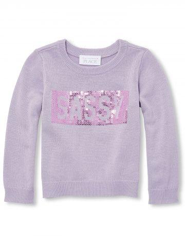 סוודר בעיטור פייטים Sassy / בנות