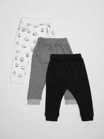 מארז 3 זוגות מכנסיים עם כיס / בייבי בנים