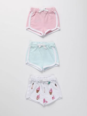 מארז 3 מכנסי רינגר קצרים / בייבי בנות