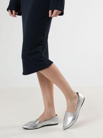 נעלי מוקסין דמוי עור מטאלי Abigail / נשים
