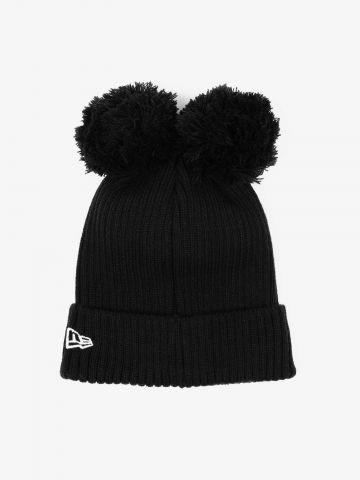 כובע גרב עם פונפונים / נשים