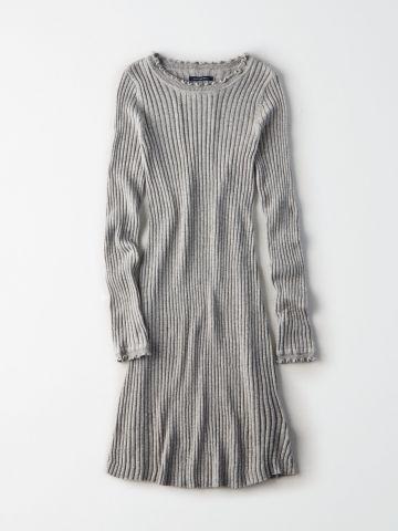 שמלת ריב עם סיומת מסולסלת / נשים