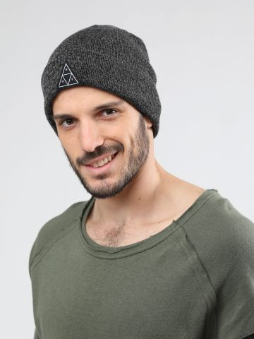 כובע גרב עם פאץ' לוגו משולש / גברים