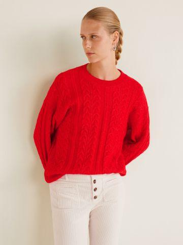 סוודר בייסיק צמות