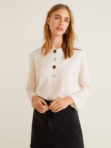 חולצה עם כפתורים בצבעים משתנים