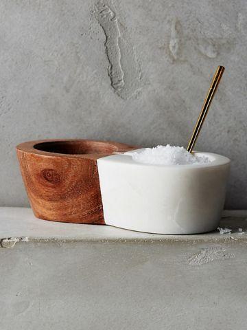 כלי מודרני למלח אמבט עם כפית נלווית