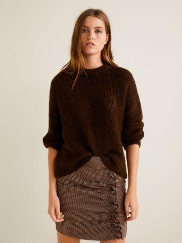 סוודר צמות סיומת אסימטרית