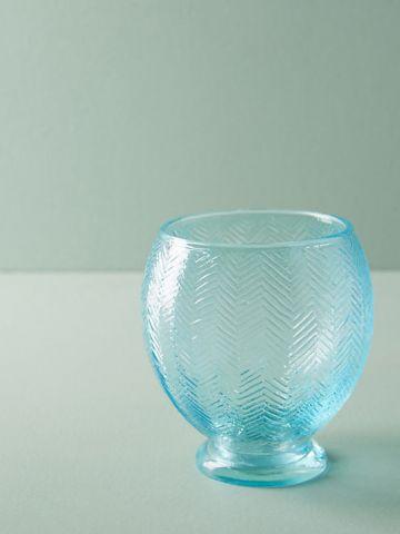 כוס זכוכית מעוטרת Aida
